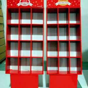 12 Cubes Foldable Cardboard Pallet Displays Customized