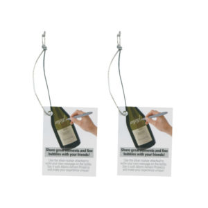 Bottle Neck Hang Tags With Elastics