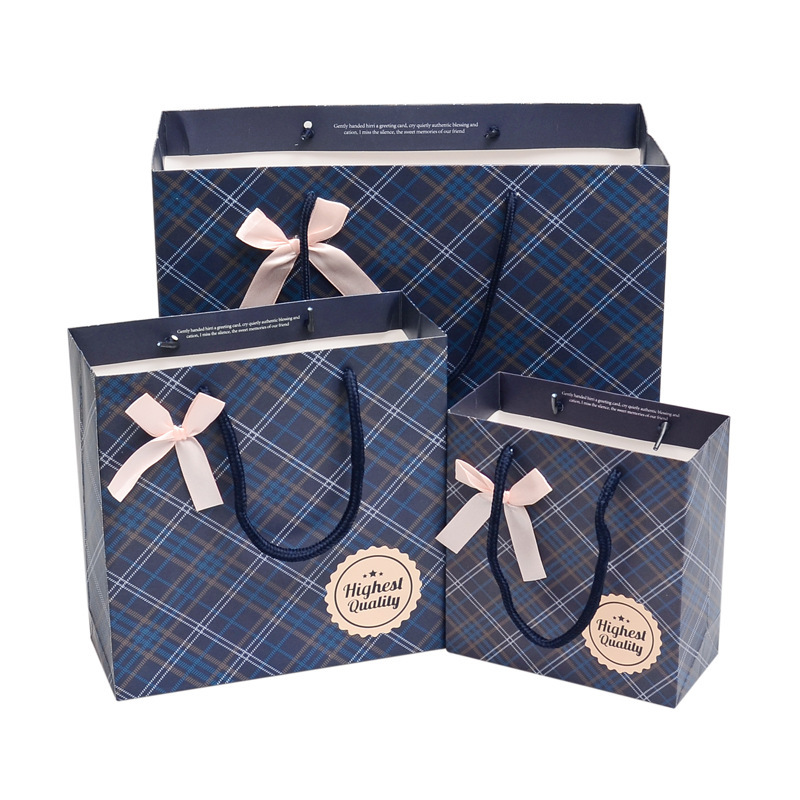 Paper Ribbon Bowknot Gift Bags for Shopping