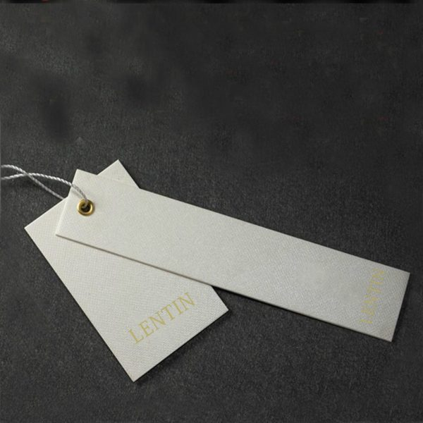 Wholesale Display Labels Hang Tags for Clothing with String 4